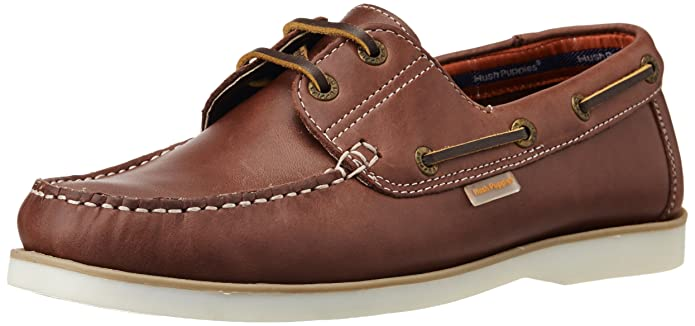 Hush Puppies Men's Boat -Lace Up Leather Boat Shoes Men's Boat Shoes at amazon