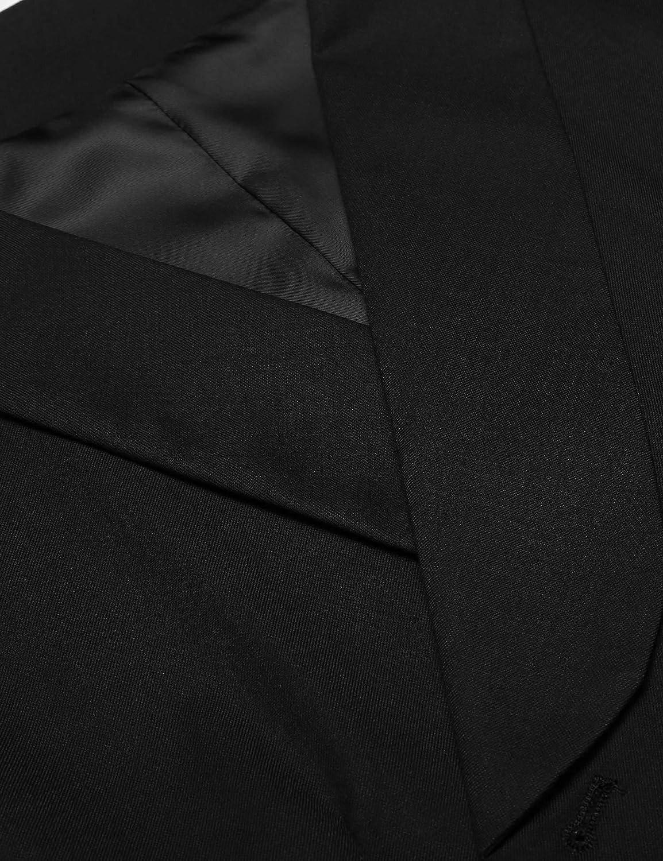 COOFANDY Mens Plaid Slim Fit Double Breasted Dress Suit Button Down Vest Waistcoat ZTT17907