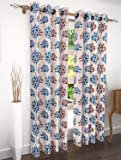 Story at Home Door Curtain, Beige/Blue, 118cm X 215cm, Dgy2019