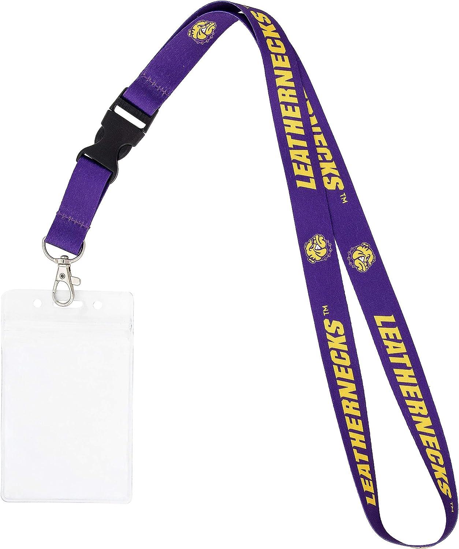 Loyola University Chicago LUC Ramblers NCAA Car Keys ID Badge Holder Lanyard Keychain Detachable Breakaway Snap Buckle