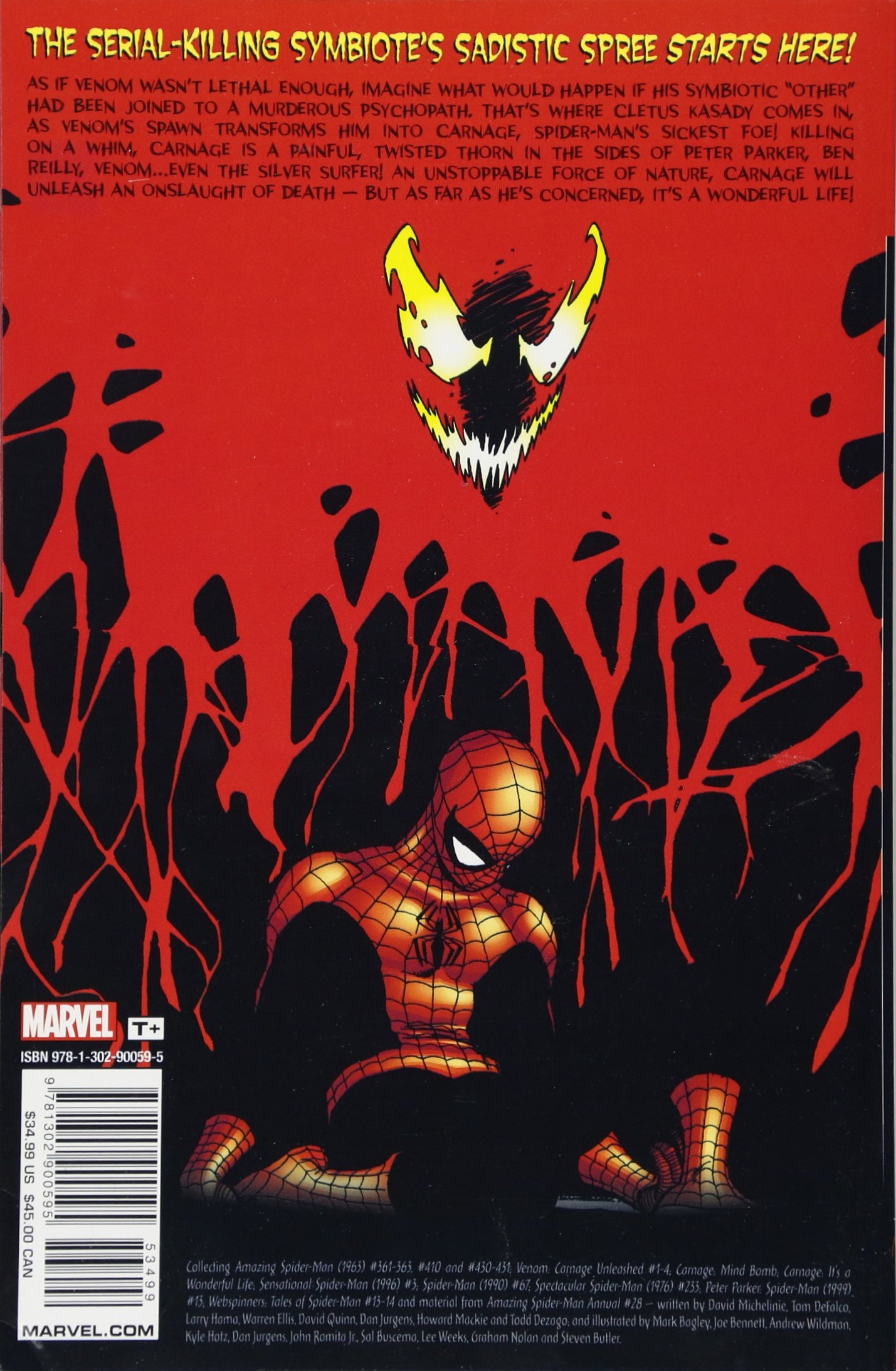 Carnage Classic **S/&D** Marvel Graphic Novel Comic Book
