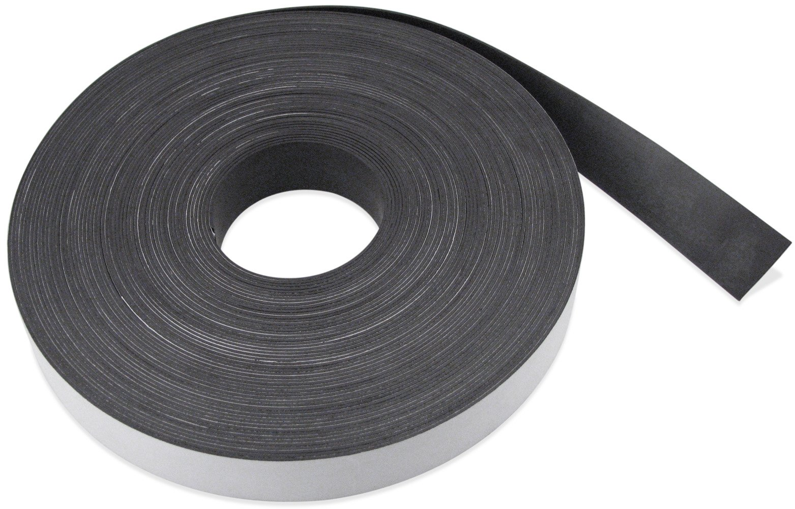 Flexible Magnet Strip with White Vinyl Coating, 1/32'' Thick, 4'' Height, 200 Feet, 1 Roll