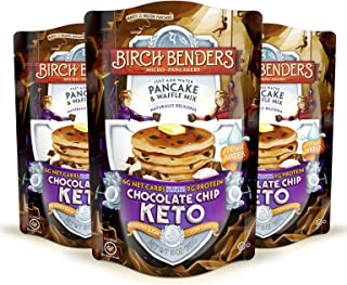 product image for Birch Benders Keto Chocolate Chip Pancake & Waffle Mix with Almond/Coconut & Cassava Flour, Just Add Water, 3 Count
