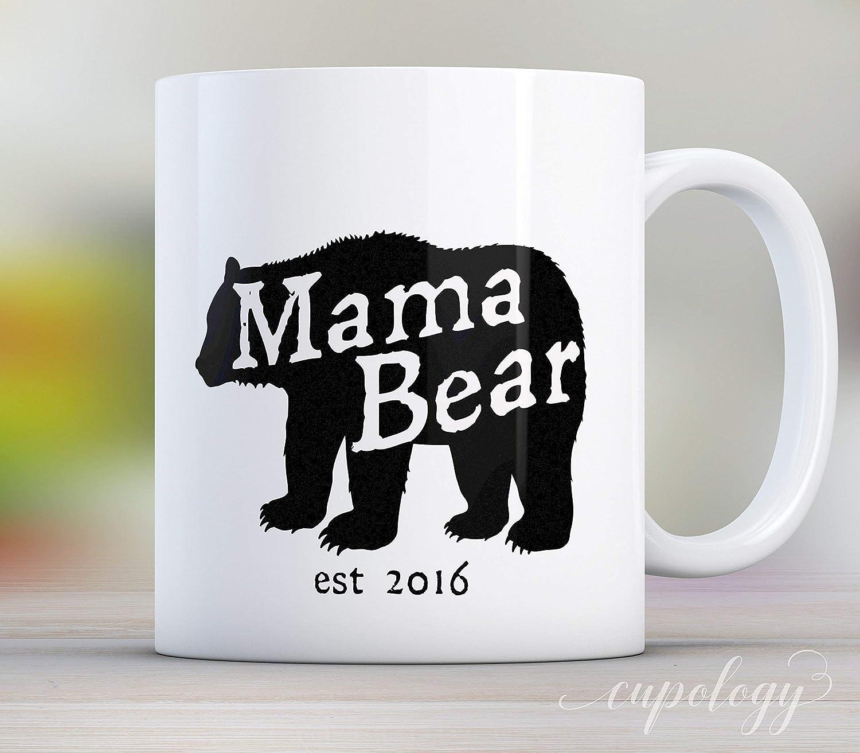 1096fbc124 Amazon.com: Mama Bear Coffee Mug, Personalize with a Custom Date, 11 oz or  15oz: Handmade