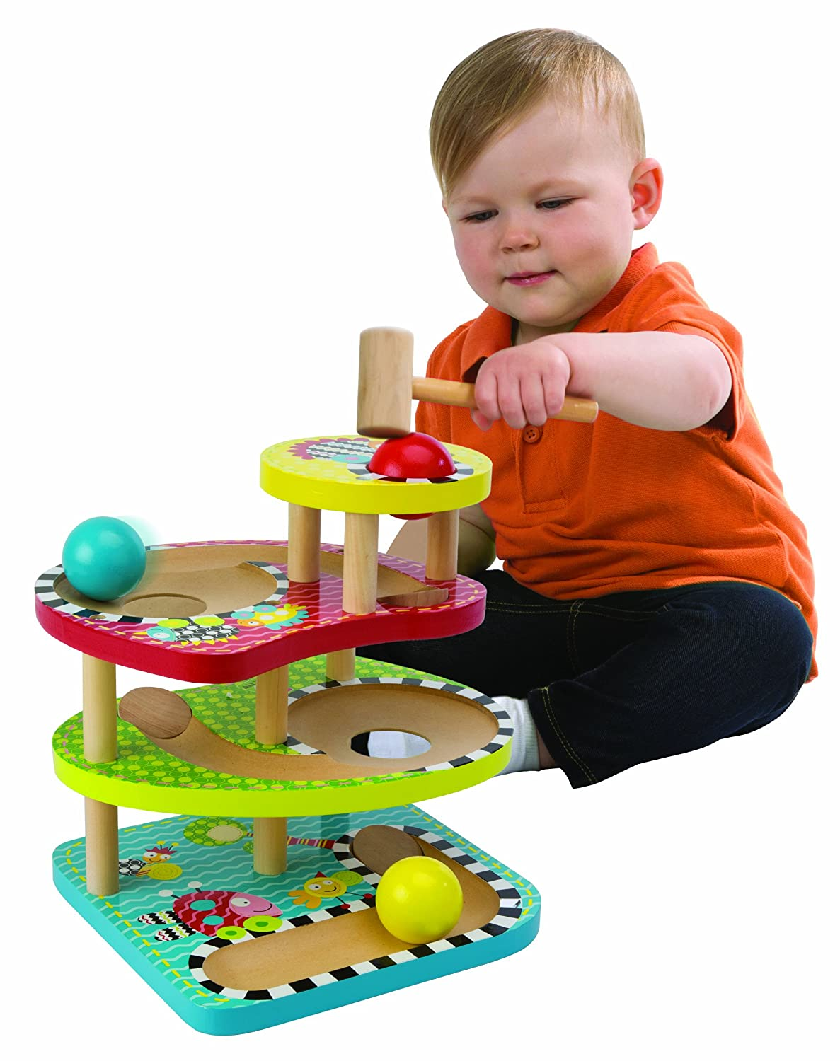 Wooden Bop and Roll Hand & Eye Coordination Toy (10m+)