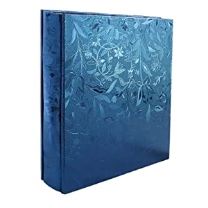 RECUTMS 600 Photo Picture Album PU Leather Cover Sewn Bonded Memo Album Slots Album Holds 4x6 Photos 5 Per Page Family Album Gift for Mother Father (Blue S-Leaf)