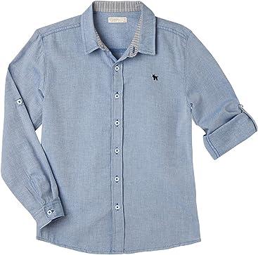 OFFCORSS Button Down Long Sleeve Shirts Boys Camisa De Vestir para Niños