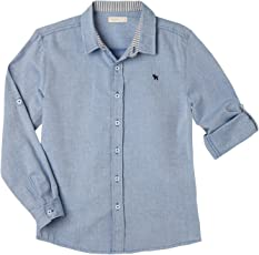 OFFCORSS Long Sleeve Button Down Shirts for Kids | Camisa De Vestir Para Niños