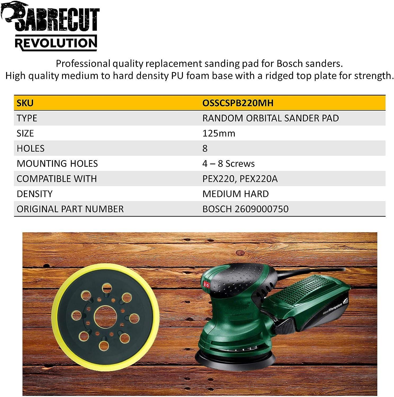per Bosch PEX220 Skil 7402 7490 SabreCut OSSCSPB220MH/_2-2 gommini per levigatrice orbitale a 8 fori 125 mm