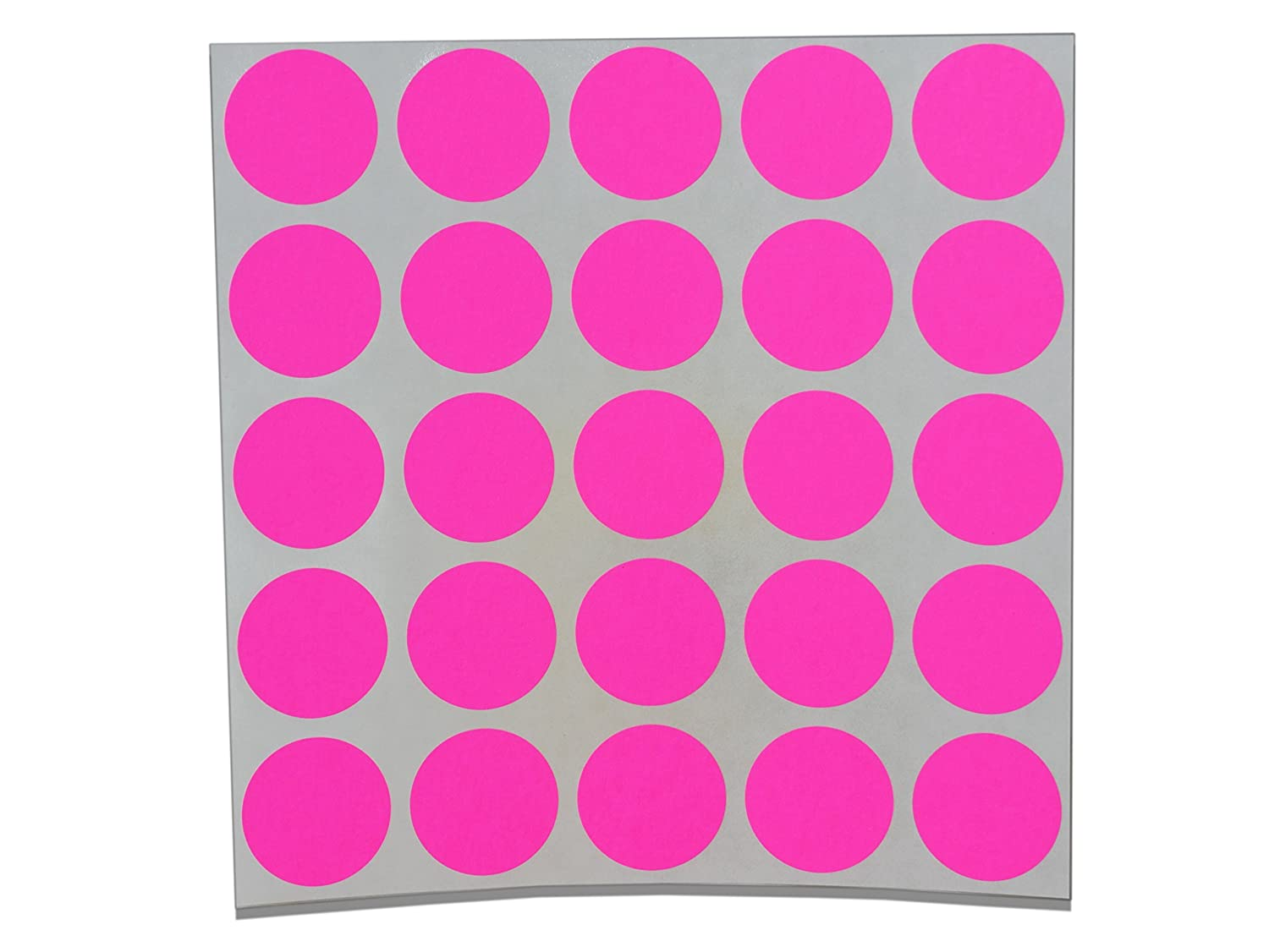 Color Coding Labels Super Bright Fluorescent Neon Round Circle Dots for Organizing Inventory 1 Inch 500 Total Adhesive Stickers (Fluorescent Pink)