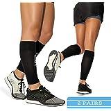 Calf Leg Compression Sleeves by Modetro Sports Shin Splints & Leg Cramp Support