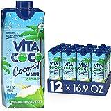 Vita Coco Coconut Water, Pure Organic | Refreshing Coconut Taste | Natural Electrolytes | Vital Nutrients | 16.9 Oz (Pack Of
