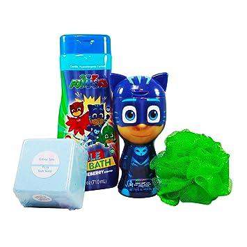 PJ Masks Childrens Bubble Bath Boxed Set Featuring Bubble Bath, Hair and Bodywash, Body