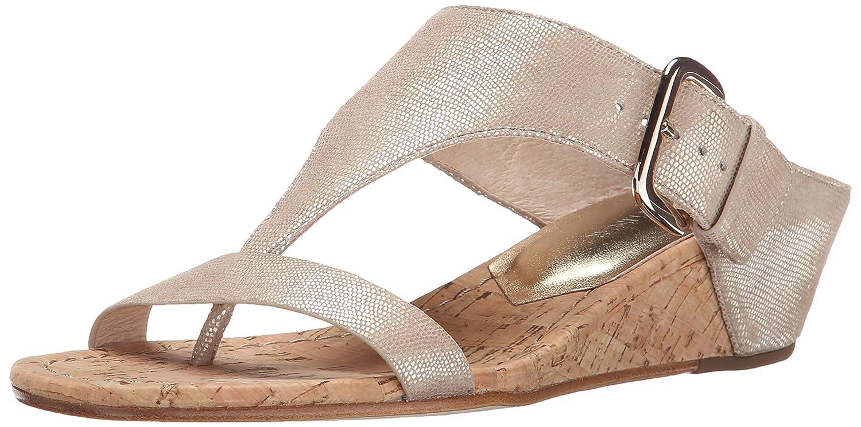 Donald J Pliner Women's Doli2 Wedge Sandal B00NB1V202 8.5 B(M) US|Platino Metallic Lizard Print