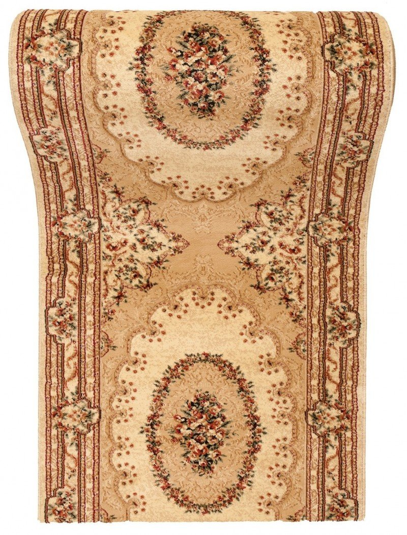 WE LOVE RUGS CARPETO Läufer Teppich Flur in Beige Creme - Orientalisch Muster - 3D-Effekt Dichter und Dicker Flor - Läuferteppich nach Maß - ISKANDER Kollektion 90 x 400 cm B079FRYSXL Lufer