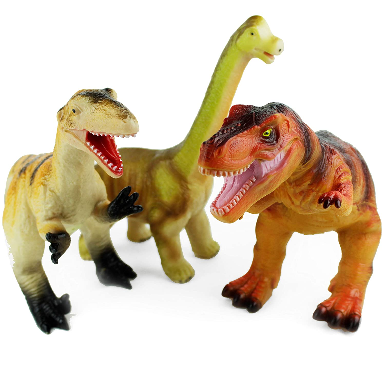 "Boley 3 Pack Monster Jumbo 12"" Dinosaur Set - Great for Young Kids, Children, Toddlers - Dinosaur Toy Playset Great As Kids Dinosaurs Toys, Dinosaur Party Favors, and Dinosaur Party Supplies!"