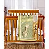 Dream On Me Reversible Portable Crib Set, Safari Animals