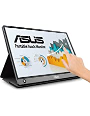 "$346 Get ASUS ZenScreen MB16AMT 15.6"" Full HD Portable Monitor Touch Screen IPS Non-Glare Built-in Battery and Speakers Eye Care USB Type-C Micro HDMI w/Foldable Smart Case"