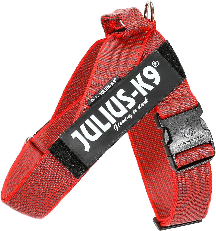 Julius-K9 Arnés de Correa Color & Gray, Talla: 1, Rojo-Gris ...