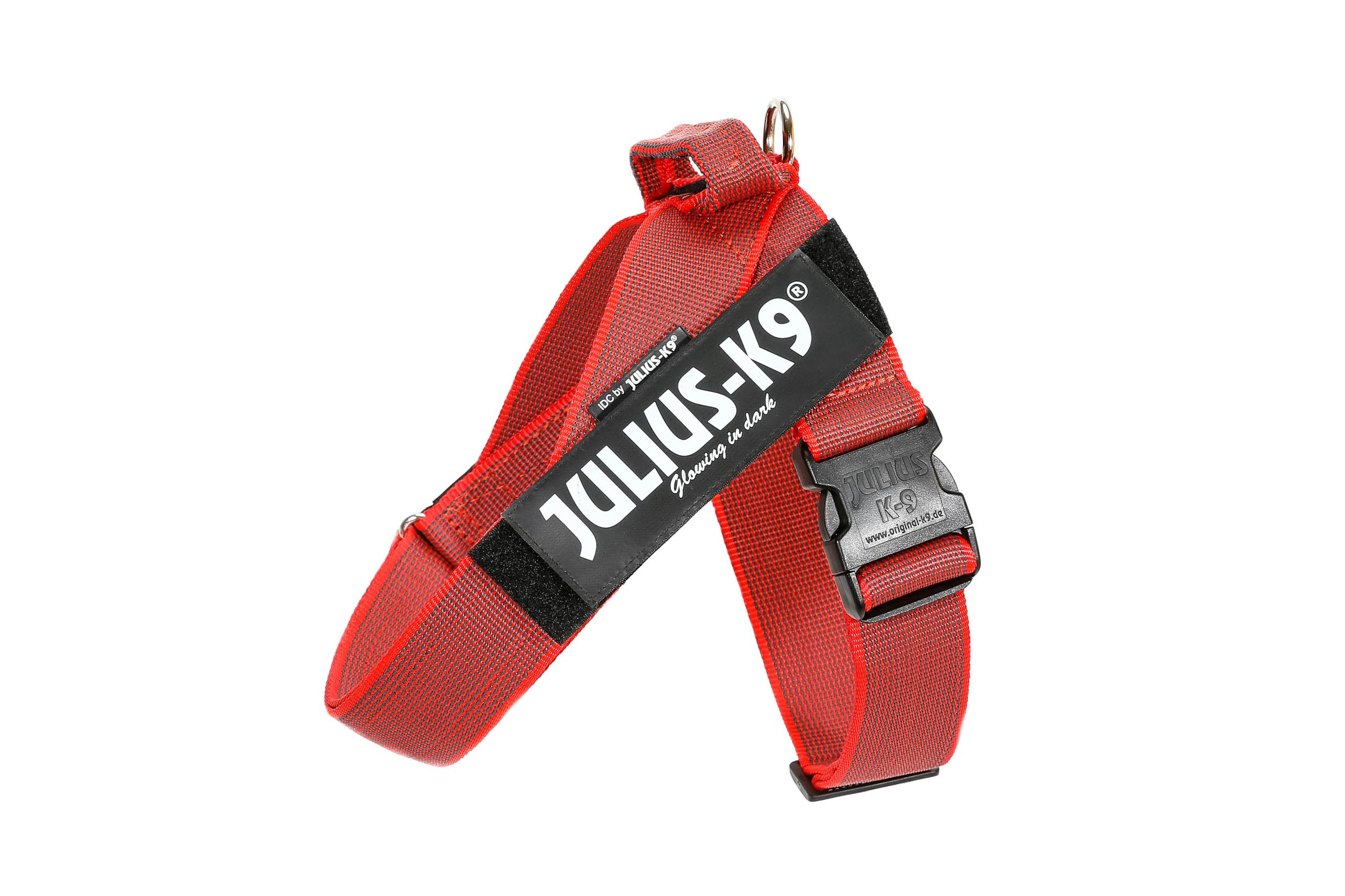Julius-K9, 16501-IDC-R-15, Color&Gray IDC-Beltharness, Size: 1, red-Gray