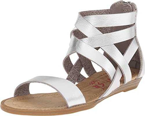 725658c5663eaf Blowfish Kids Girl s Billa-K (Little Kids Big Kids) Silver Sandal  Amazon.ca   Shoes   Handbags