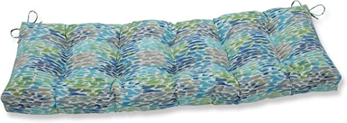 Cheap Pillow Perfect Outdoor/Indoor Make It Rain Cerulean Tufted Bench/Swing Cushion outdoor chair cushion for sale