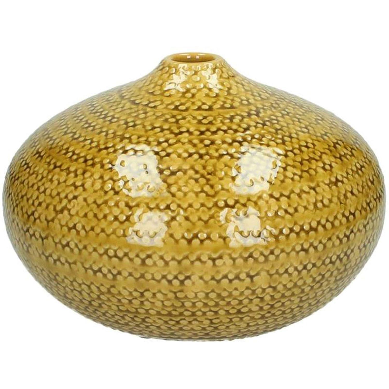 Kersten Vase Handmade Keramik 26cm senfgelb
