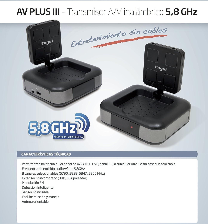 Transmisor de Video/Audio inalámbrico 5.8GHz (Emisor + ...