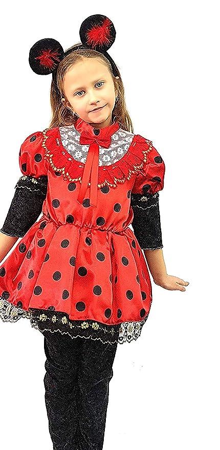 pequeños monelli Traje Minnie niña Vestido Minnie Mouse niña ...