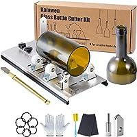 Kalawen Glassnijder voor flessen, roestvrij staal, 5 verstelbare wielen, glassnijder, bottle cutter kit voor doe-het…