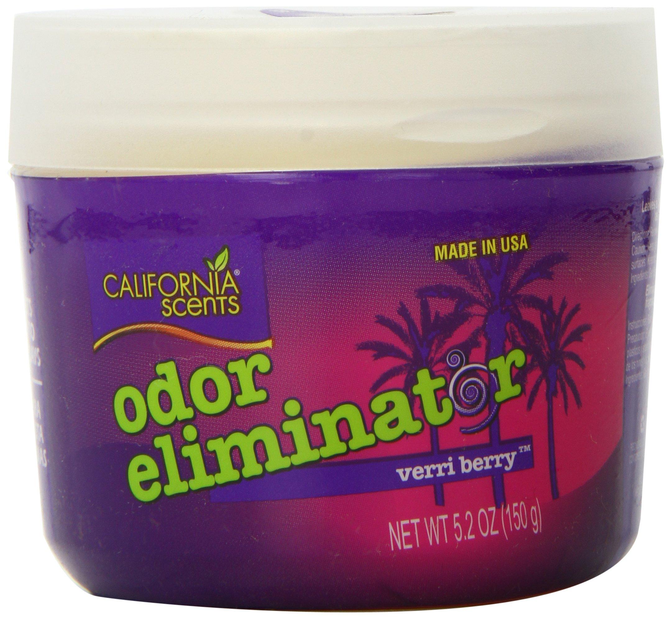California Scents Odor Eliminator, Verri Berry, 5.2-Ounce Jars (Pack of 12)