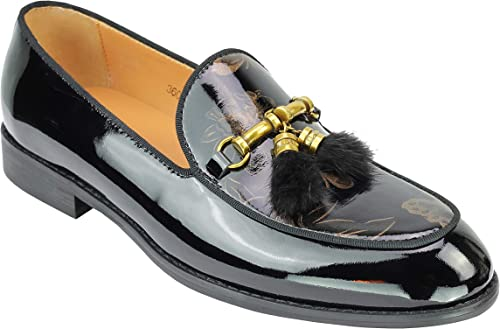 mens black snaffle loafers