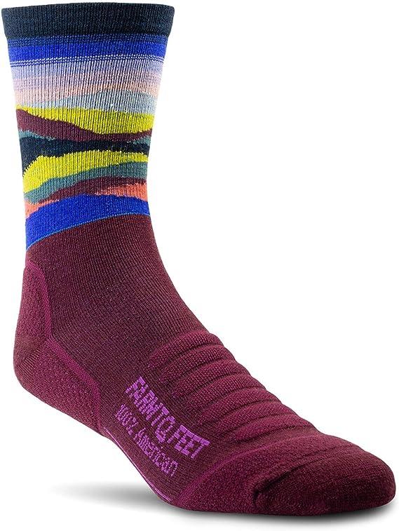 Farm To Feet Max Patch Lightweight Technical 3/4 Crew Merino Wool Socks