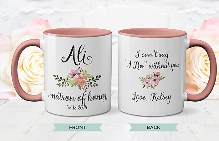 Amazoncom Wedding Gift Bridesmaid Mug Bridesmaid Gift Wedding