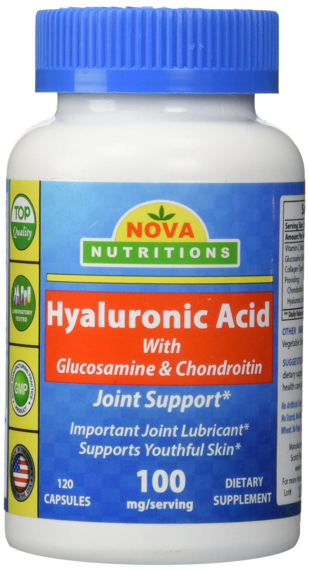 Nova Nutritions Hyaluronic Acid 100 mg per serving 120 Capsules