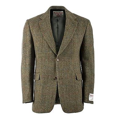 Green scottish tweed field coat