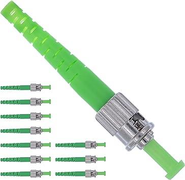 Beyondtech Fiber Optics Connector FC//APC Fiber Kit Single Mode Simplex 10 Pack