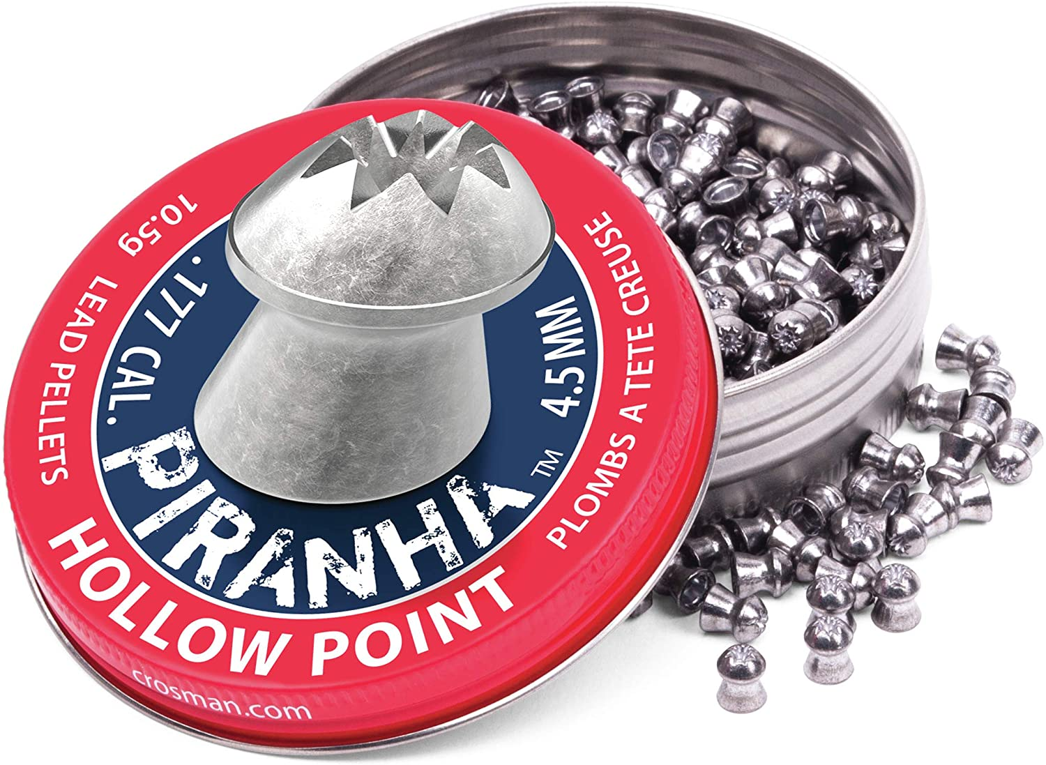 Crosman LPPH77 .177-Caliber Piranha Premier Pellets (400-Count)