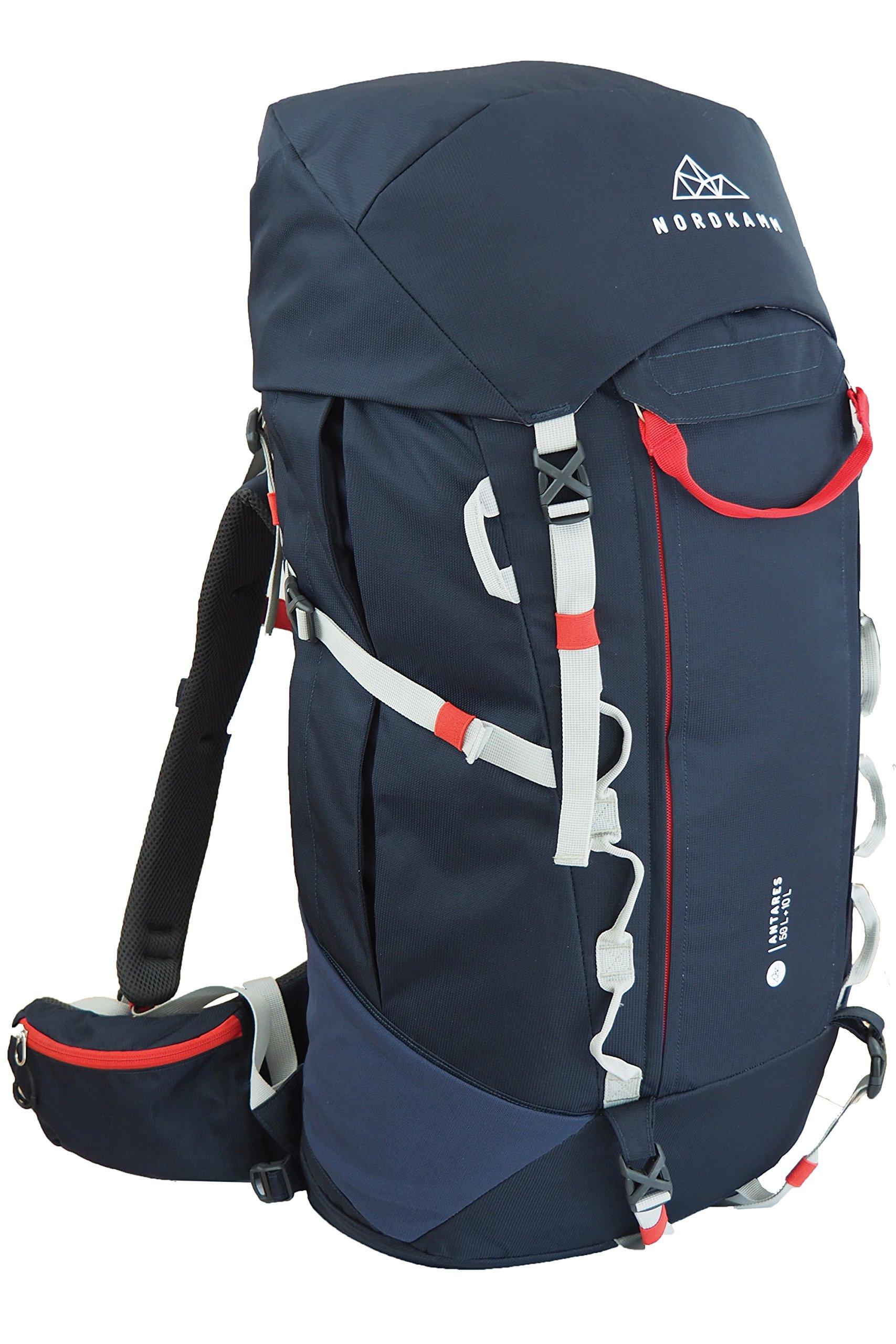5973042163 NORDKAMM – Zaino 50 l – 60 litri, Zaino da trekking, viaggio, campeggio