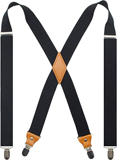 Adjustable Belt Metal Clip Work Suspenders ~ New