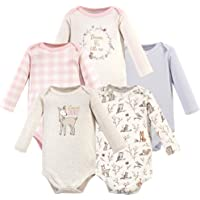 Hudson Baby Girls Unisex Baby Long Sleeve Cotton Bodysuits