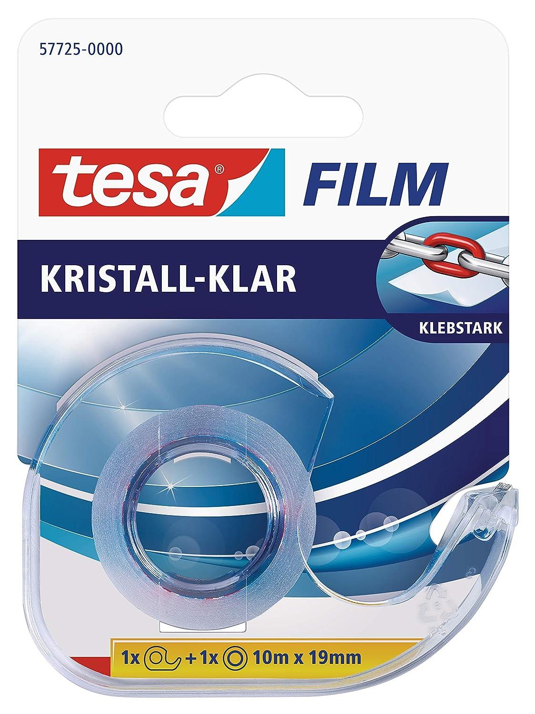 tesa film kristall-klar 8 Rollen Klebeband (unsichtbarer Film - premium Qualitä t, starke Klebkraft, 33m:19mm) 58260-00000
