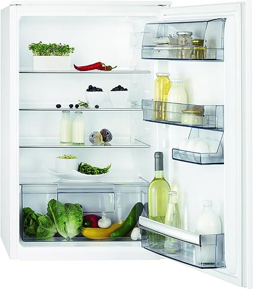 AEG SKB58821AS - Frigorífico sin congelador (142 l, pequeño frigorífico empotrable con estantes ajustables de puerta y cristal, descongelación automática, A++, altura: 88 cm): Amazon.es: Grandes electrodomésticos