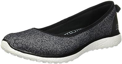 Skechers Microburst One Up Womens BlackWhite Walking Shoes