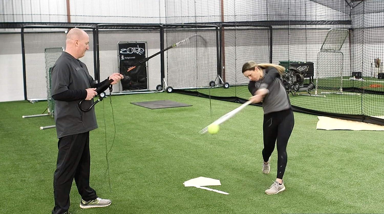 Batter-Ox Baseball Swing Trainer Portable Indoor or Outdoor Batting Average Improvement