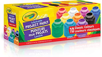 Crayola 10 59ml Paint Jars, Assorted Classic Colours, School, Craft, Painting and Art Supplies, Kids, Ages 3,4, 5, 6 and...