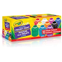 Crayola 10 59ml Paint Jars, Assorted Classic Colours, School, Craft, Painting and Art Supplies, Kids, Ages 3,4, 5, 6 and Up, Arts and Crafts, Back to school, School supplies, Gifting
