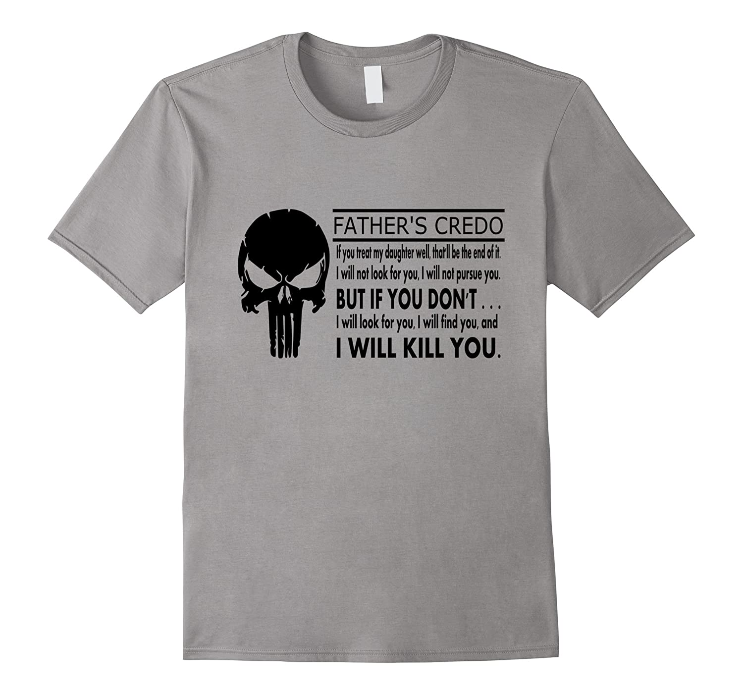 Mens Father's Credo Rules For Dating My Daughter T-Shirt
