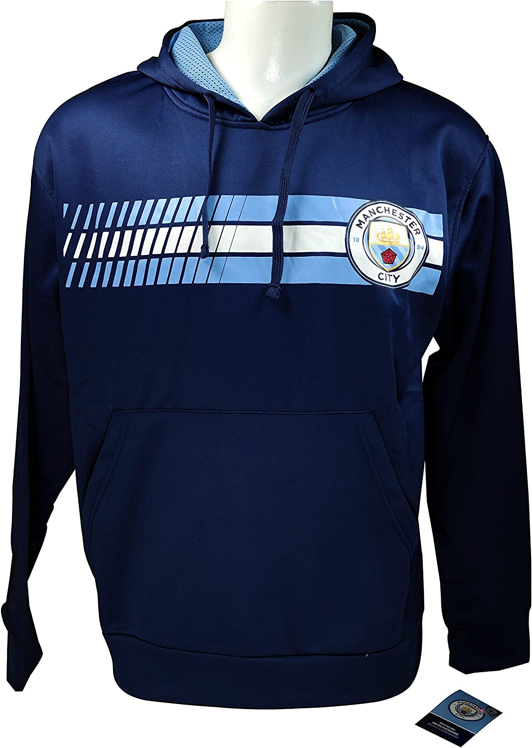Icon Sports Men Manchester City Jacket Sweatshirt Officially Licensed Soccer Hoodie 017