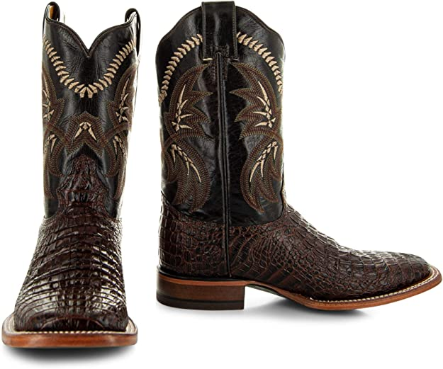 Soto Boots Men's Caiman Belly Print Cowboy Boots